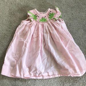 Other - Pink frog smocked dress